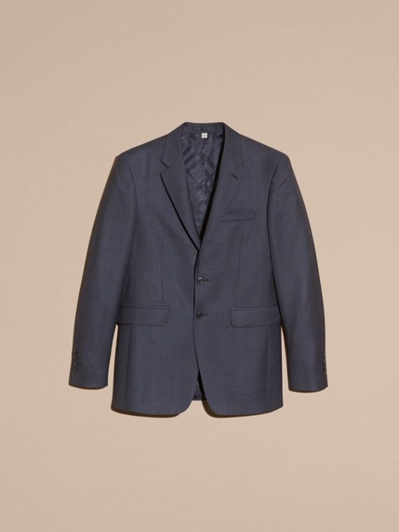 Navy Modern Fit Wool Half-canvas Suit - cell image 3