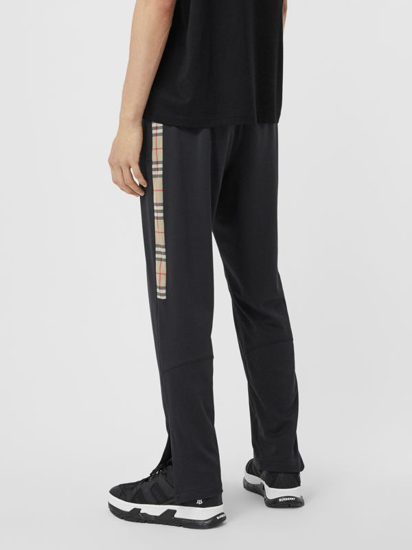 Vintage Check Trim Technical Twill Trackpants in Black - Men   Burberry - cell image 2