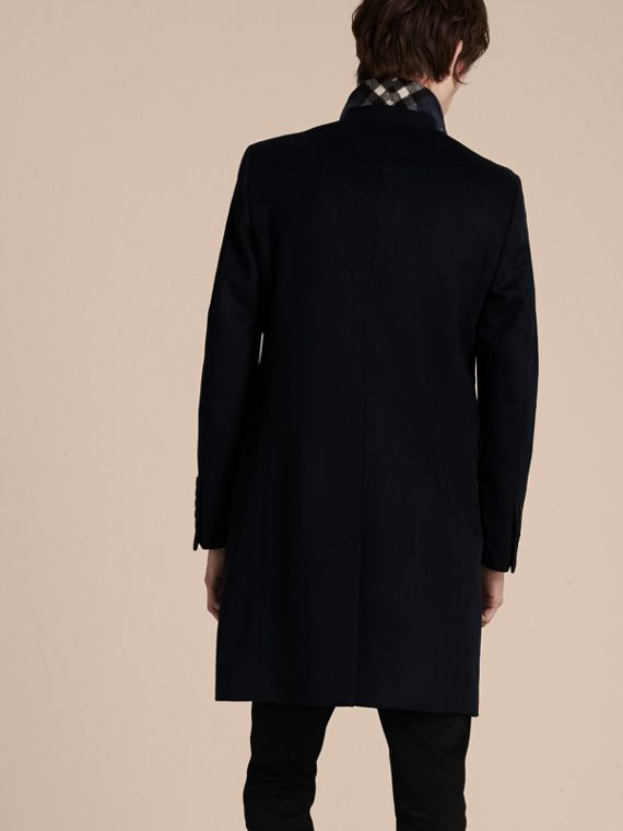 Wool Cashmere Tailored Coat Navy - cell image 2