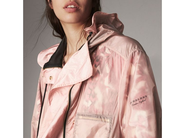 Hooded Lightweight Oversize Parka in Ash Rose - Women | Burberry - cell image 1