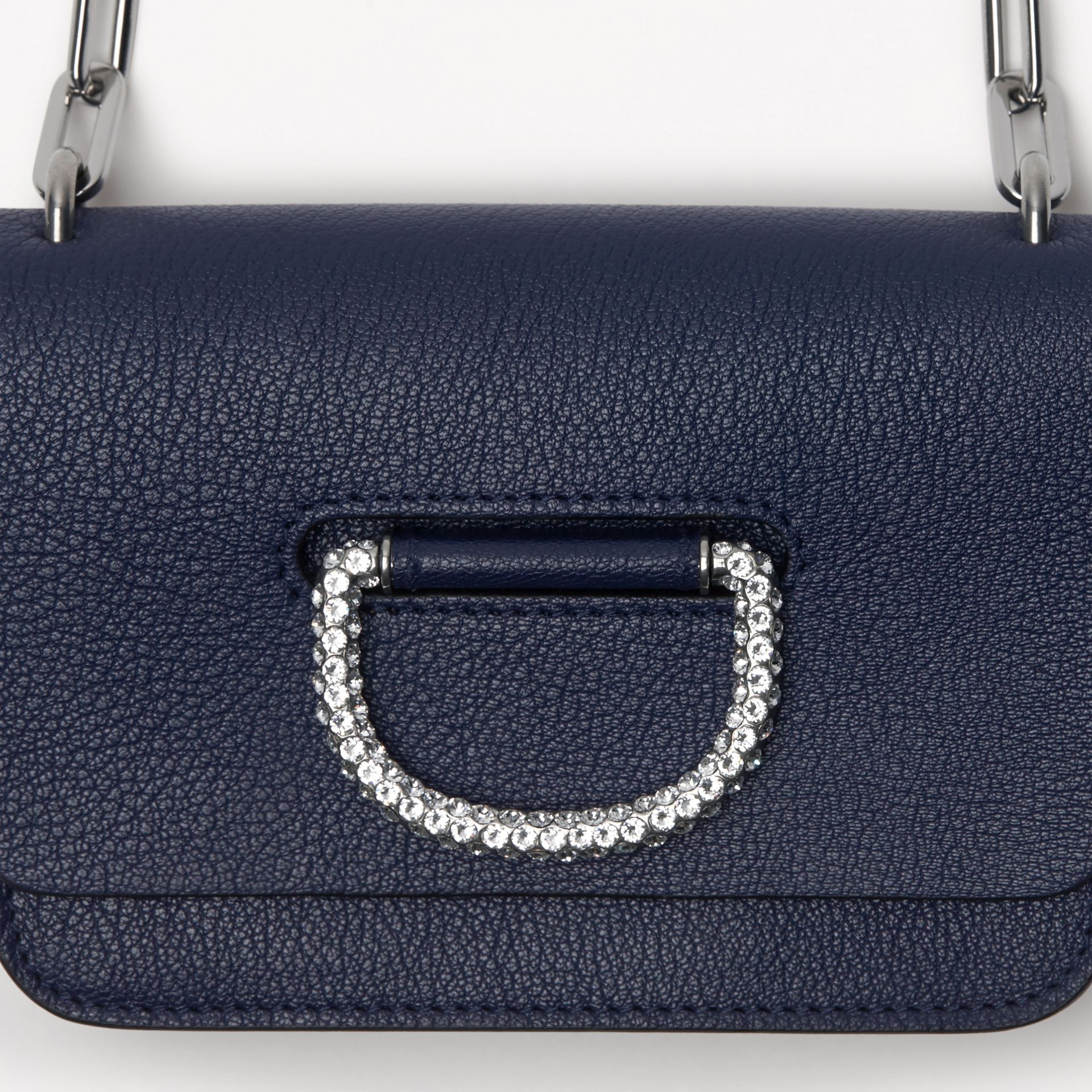 The Mini Leather Crystal D-ring Bag in Regency Blue - Women | Burberry - gallery image 1