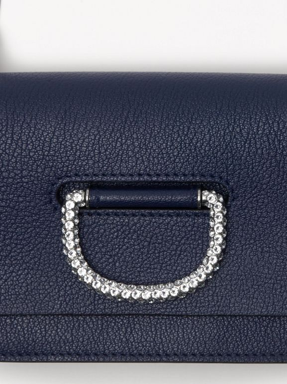 The Mini Leather Crystal D-ring Bag in Regency Blue - Women | Burberry - cell image 1