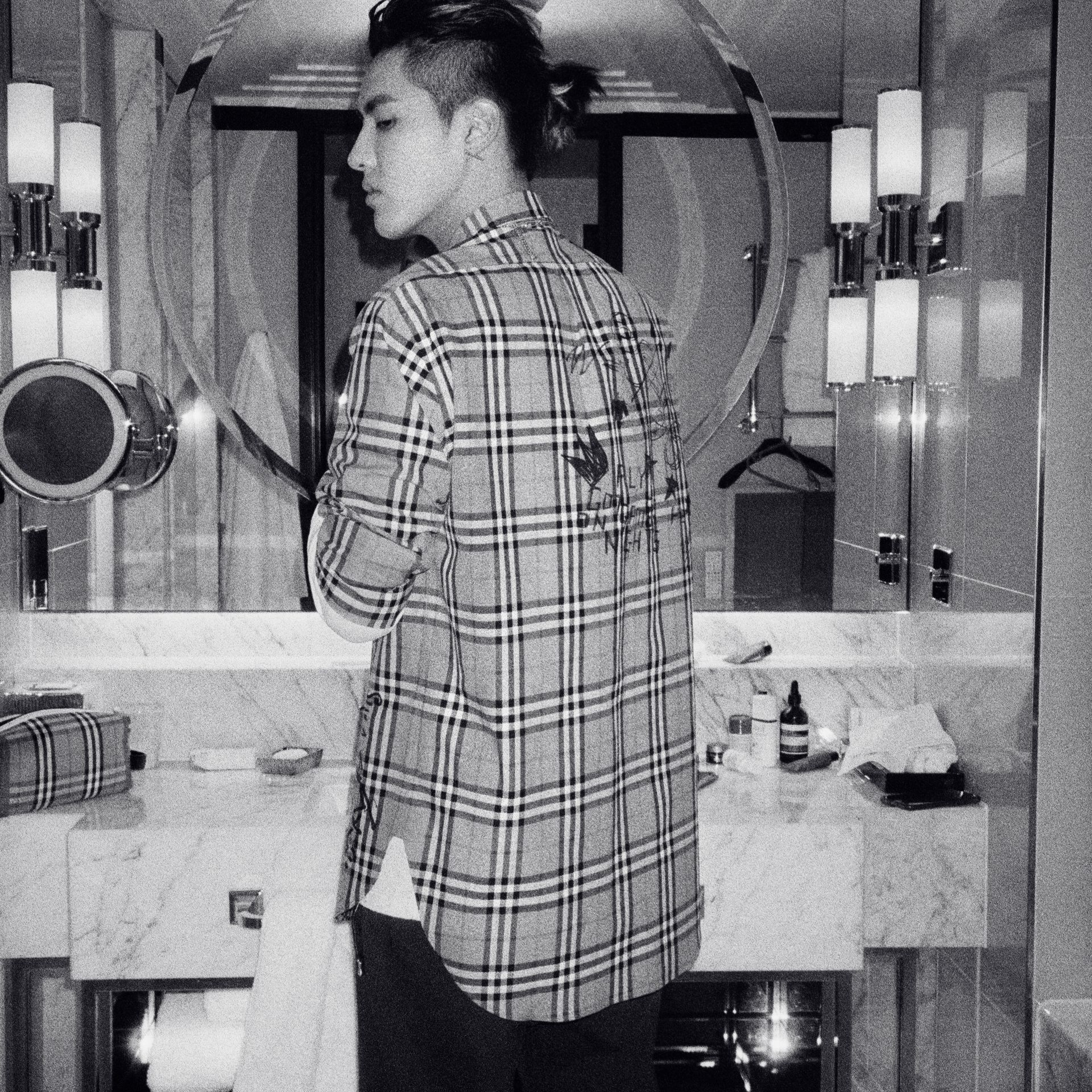 Burberry x Kris Wu Vintage Check Cotton Shirt in Antique Yellow - Men | Burberry United Kingdom - gallery image 4