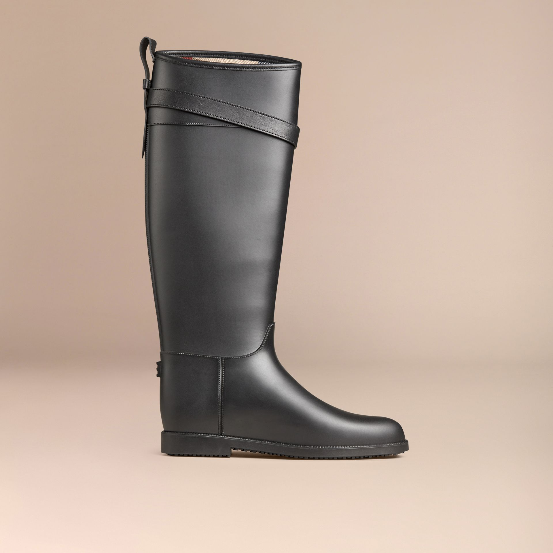 Belted Equestrian Rain Boots - gallery image 3