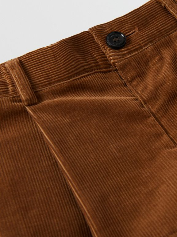 Corduroy Tailored Shorts in Camel | Burberry - cell image 1