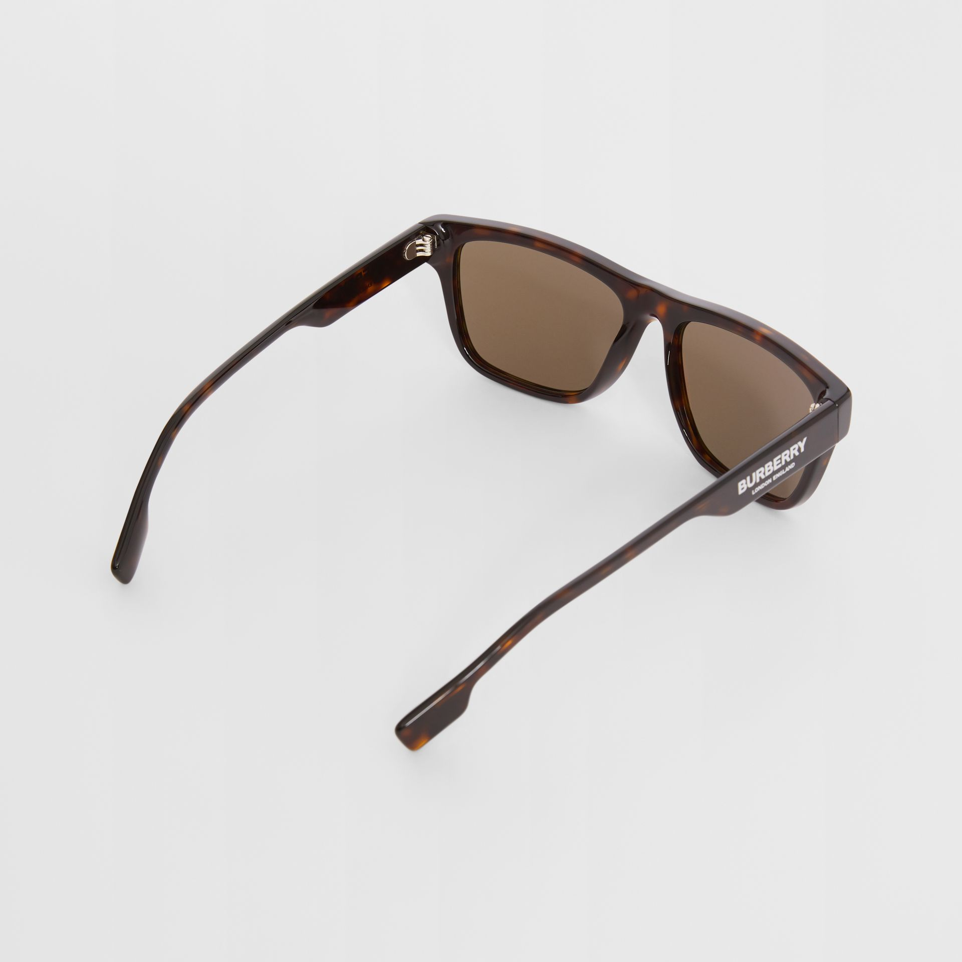 Square Frame Sunglasses in Tortoiseshell - Men | Burberry United Kingdom - gallery image 3