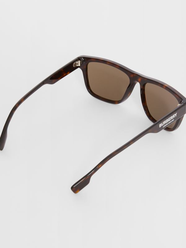 Square Frame Sunglasses in Tortoiseshell - Men | Burberry United Kingdom - cell image 3
