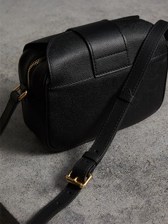 The Small Buckle Crossbody Bag in Leather in Black - Women | Burberry United Kingdom - cell image 3