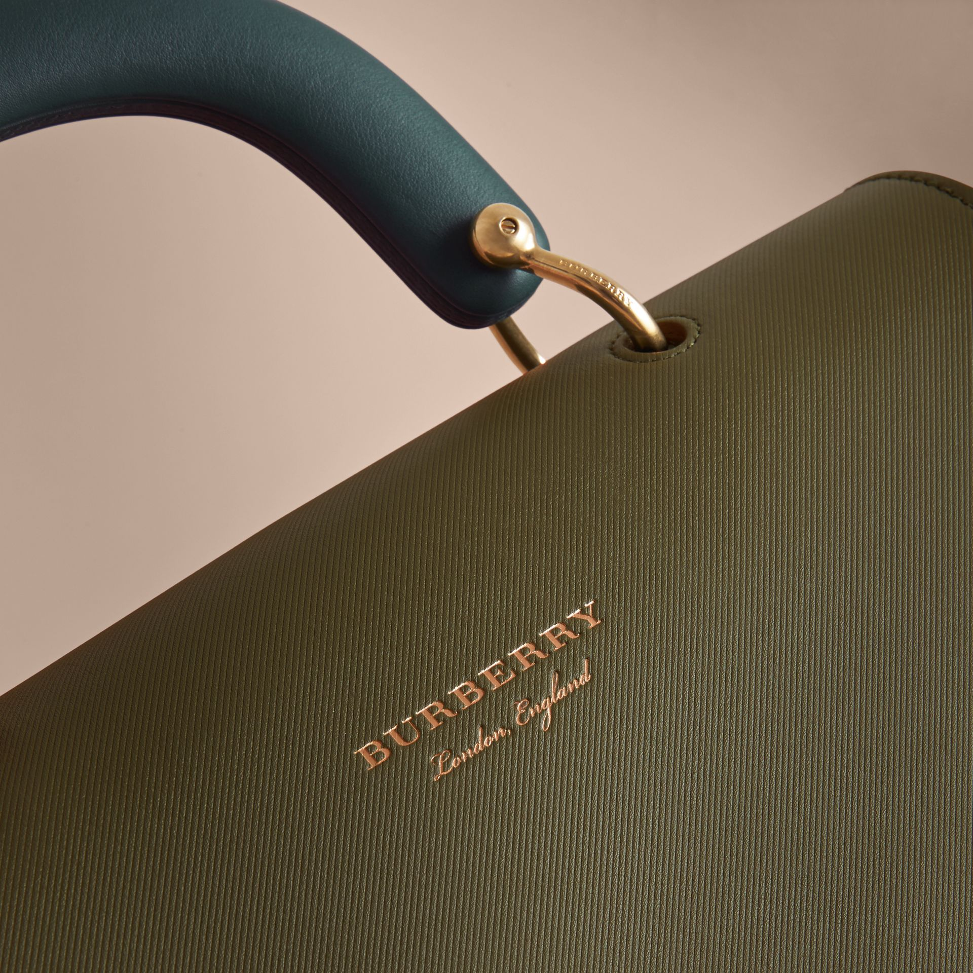 The Large DK88 Top Handle Bag in Moss Green - Women | Burberry United States - gallery image 5