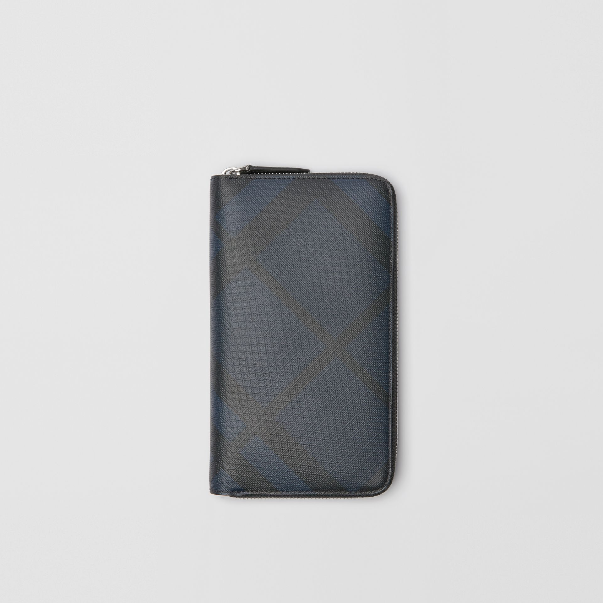 London Check Ziparound Wallet in Navy/black - Men | Burberry United Kingdom - gallery image 0