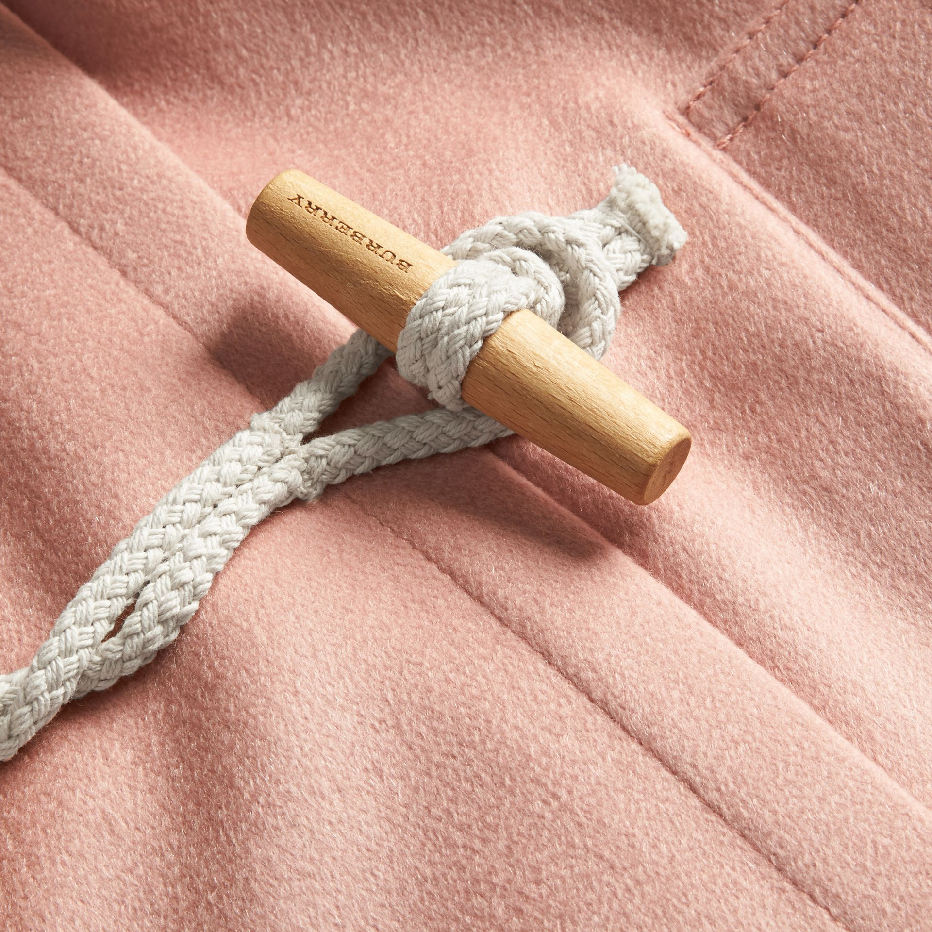 Chalk pink Cashmere Duffle Coat Chalk Pink - gallery image 2