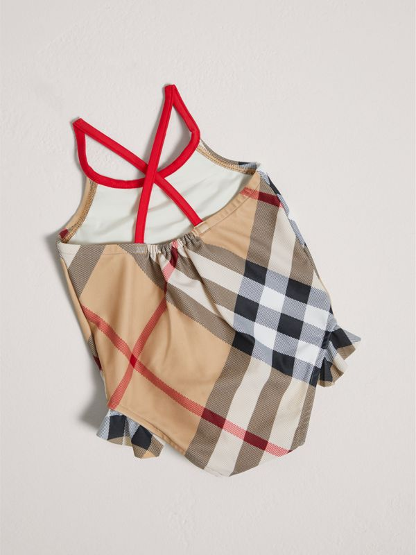 Check One-piece Swimsuit in New Classic - Children | Burberry - cell image 2