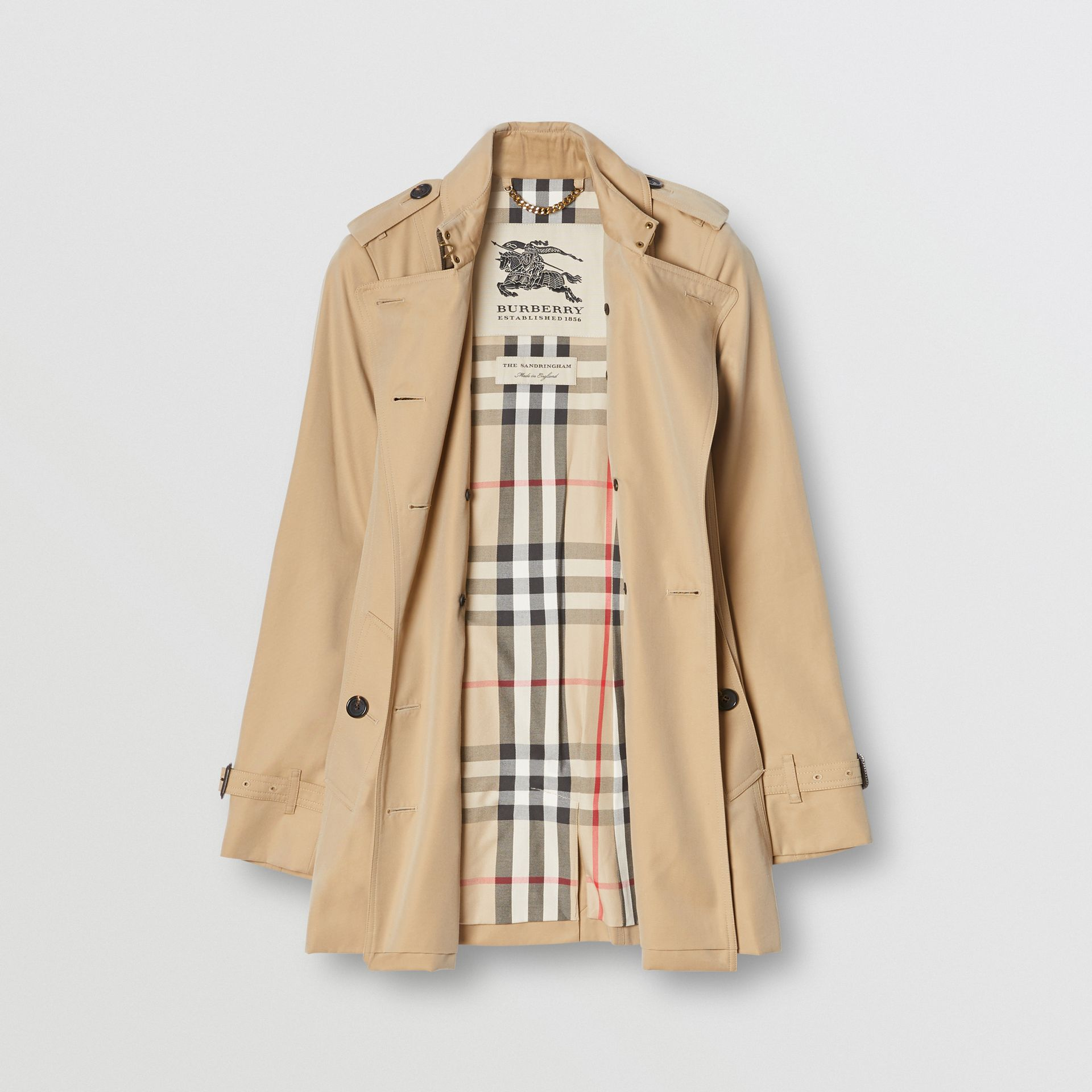 The Sandringham – Short Trench Coat in Honey - Women | Burberry - gallery image 7