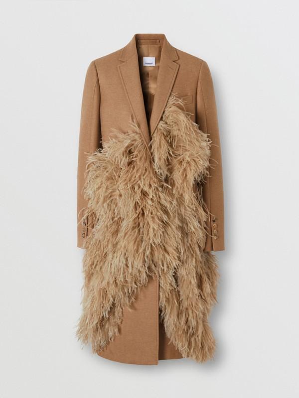 Abrigo de vestir en pelo de camello con detalle de plumas (Cámel) - Mujer | Burberry - cell image 3