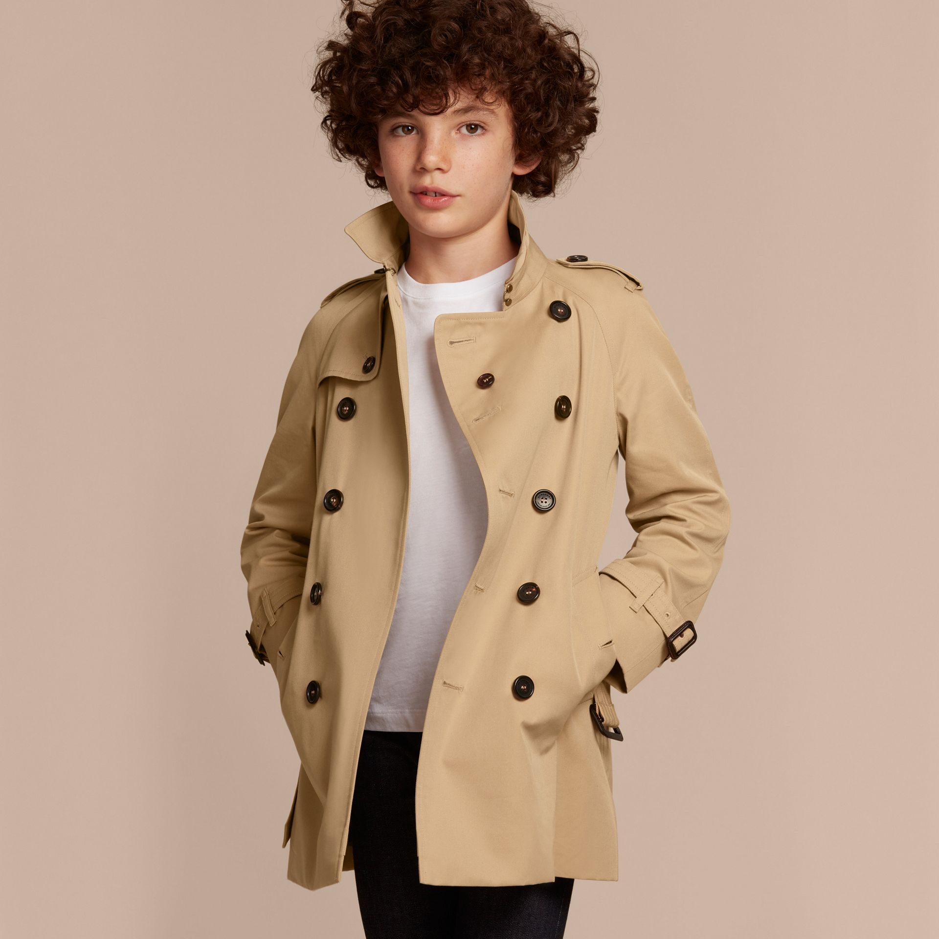 The Wiltshire – Heritage Trench Coat in Honey - Boy | Burberry - gallery image 3