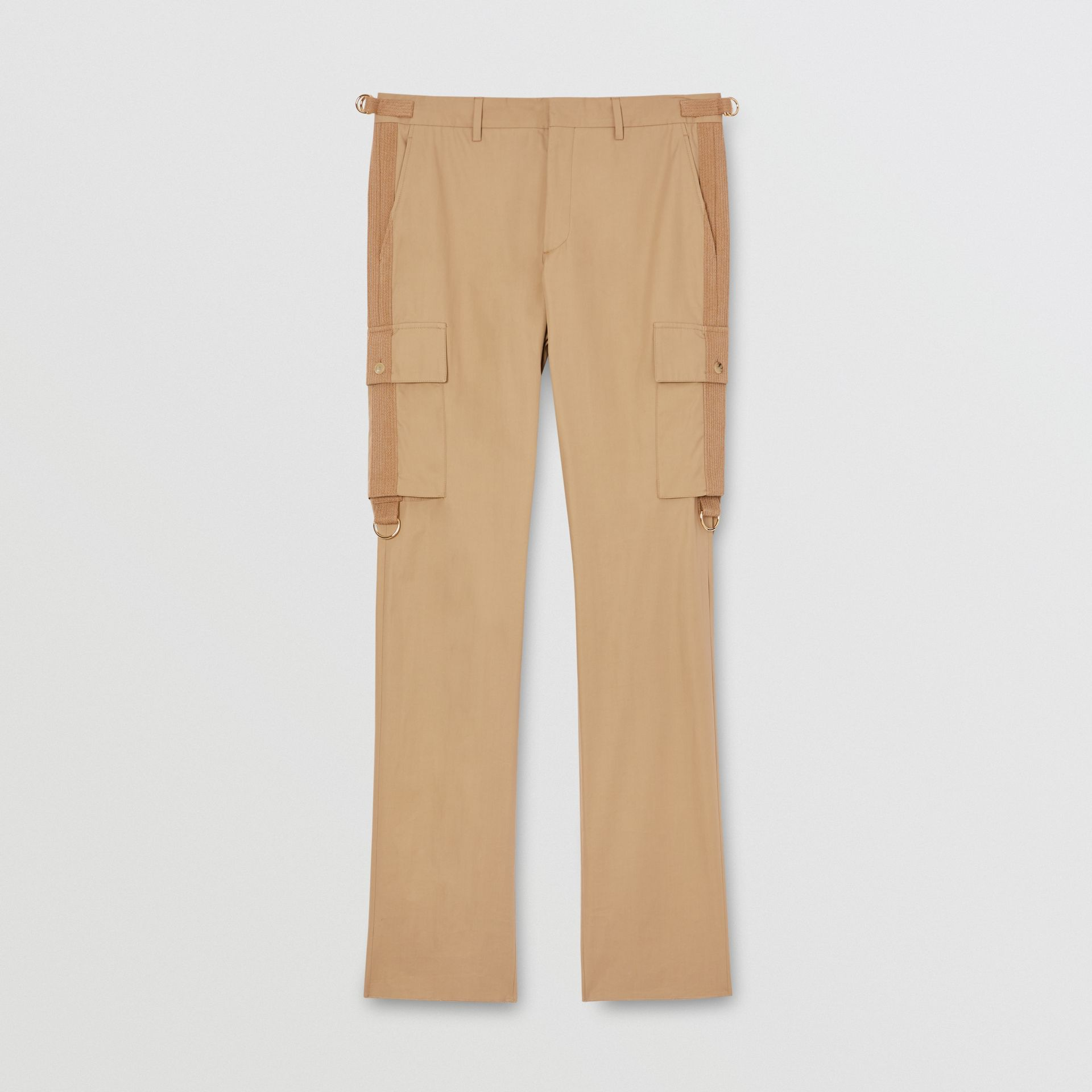 Cotton Twill Cargo Trousers in Pale Coffee - Men | Burberry - gallery image 3