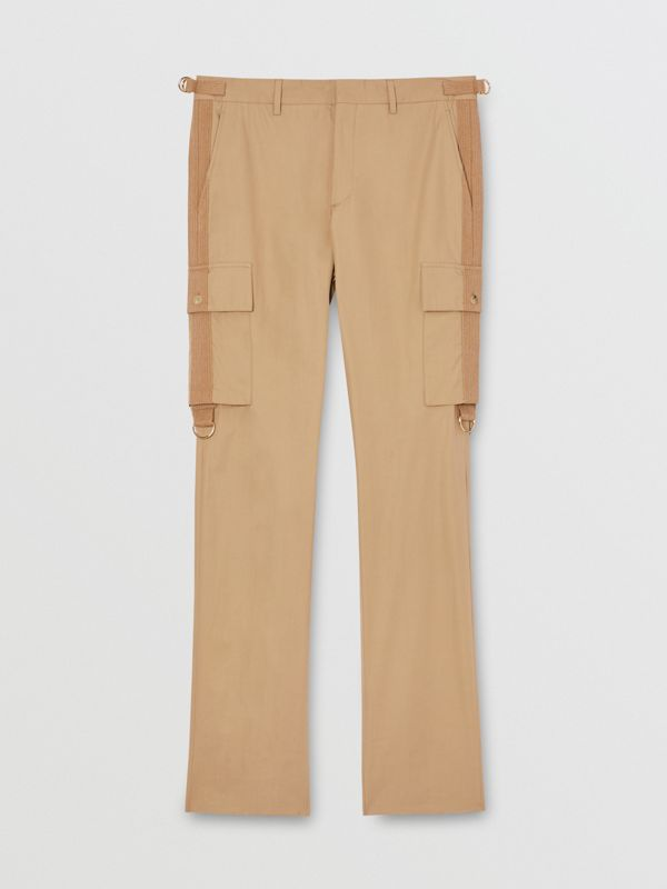 Cotton Twill Cargo Trousers in Pale Coffee - Men | Burberry - cell image 3