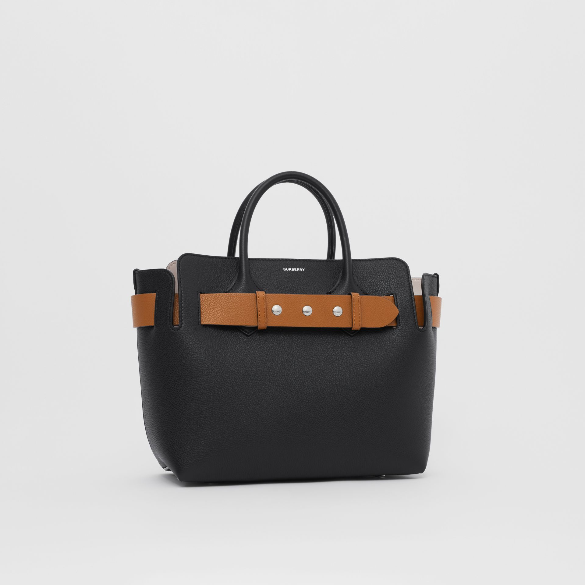 The Small Leather Triple Stud Belt Bag in Black - Women | Burberry Canada - gallery image 4