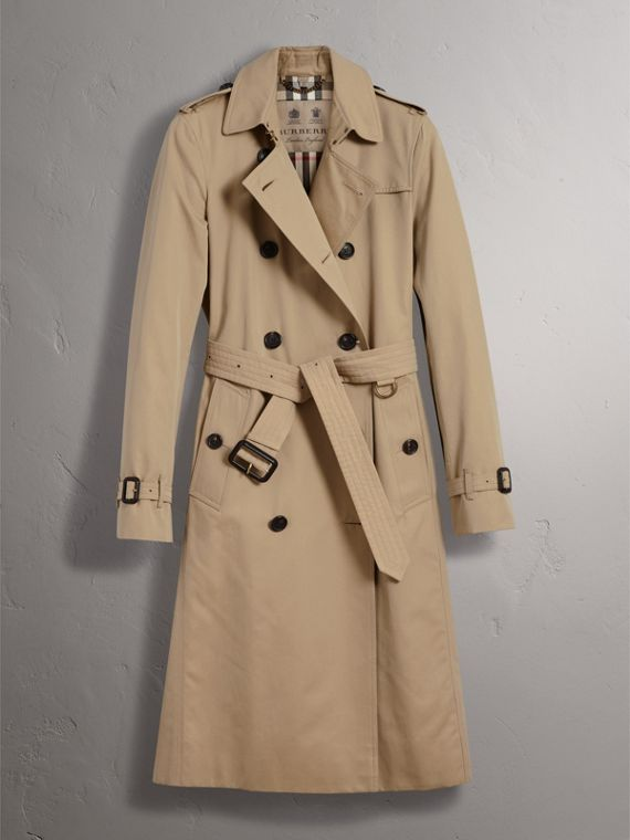 The Kensington – Extra-long Trench Coat in Honey - Women | Burberry Australia - cell image 3
