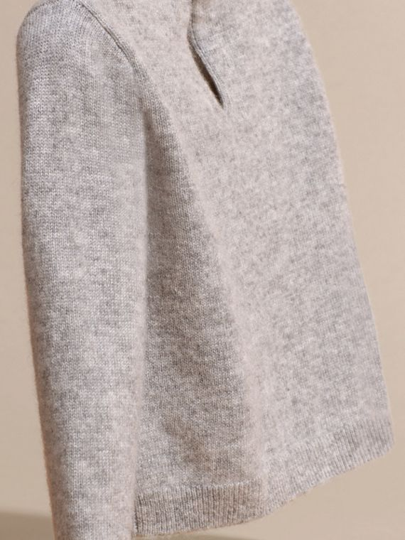 Light grey melange Cat Intarsia Cashmere Sweater - cell image 3