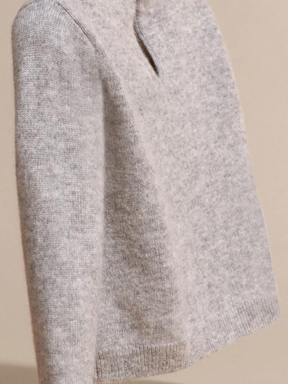 Grigio chiaro mélange Pullover in cashmere con gatto a intarsio - cell image 3