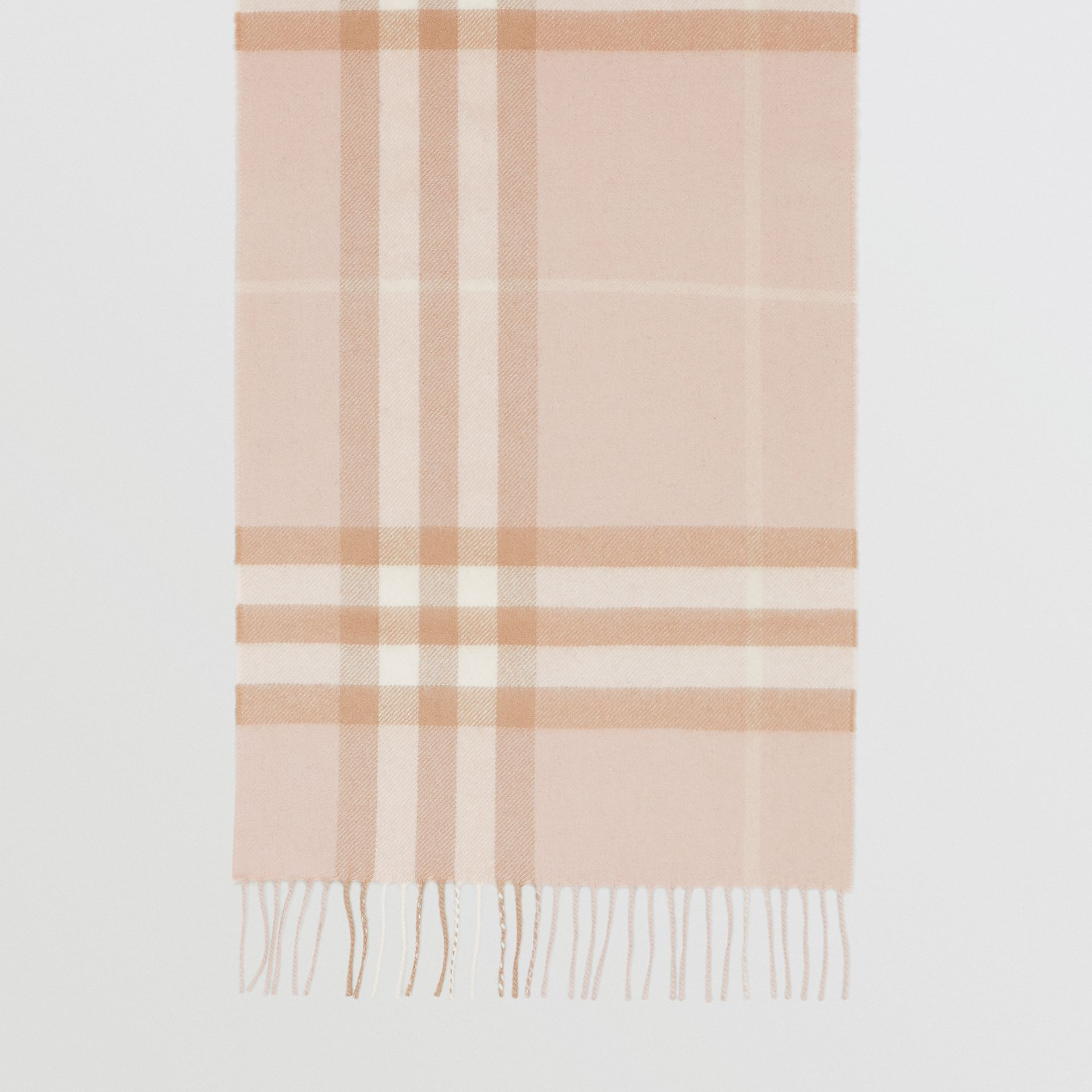 The Classic Check Cashmere Scarf in Blush | Burberry - gallery image 4
