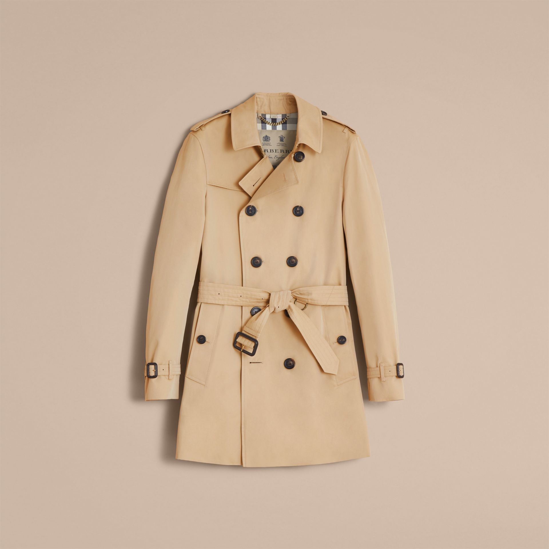 Miel Trench-coat Heritage mi-long The Chelsea Miel - photo de la galerie 5