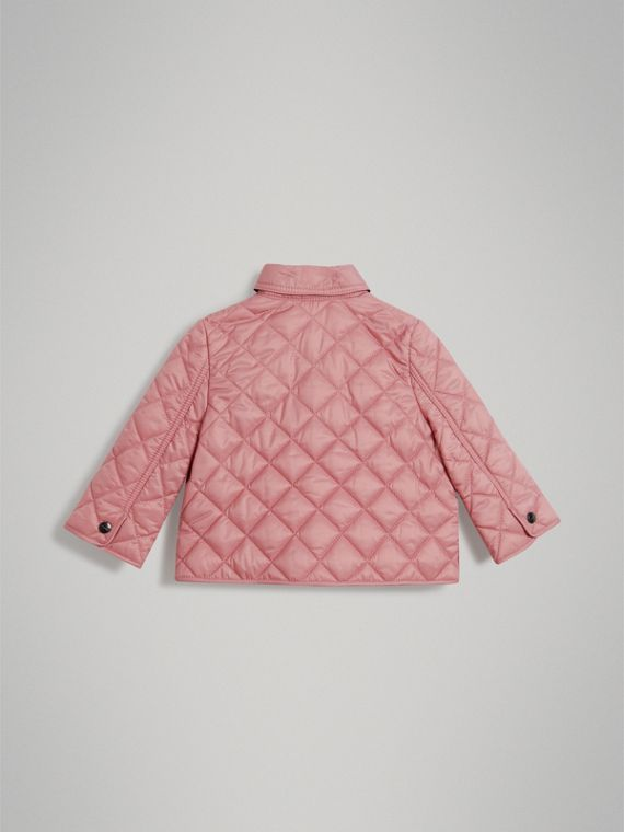 Lightweight Diamond Quilted Jacket in Pale Ash Rose | Burberry United States - cell image 3