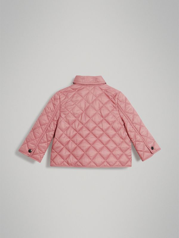 Lightweight Diamond Quilted Jacket in Pale Ash Rose - Children | Burberry - cell image 3