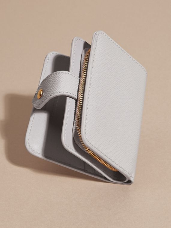 Pale grey Patent London Leather Wallet - cell image 2