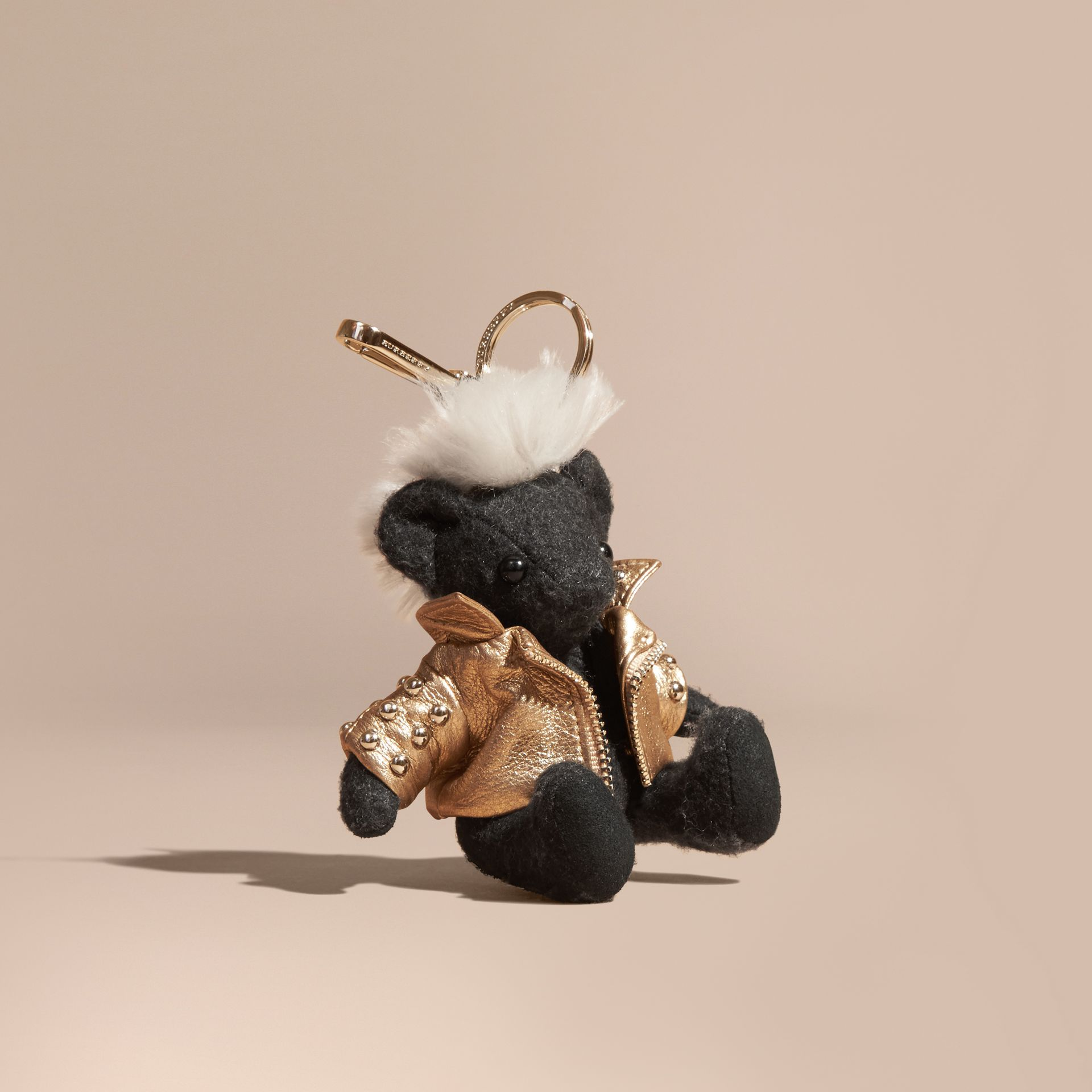 Bijou porte-clés Thomas Bear Punk (Anthracite) | Burberry - photo de la galerie 1