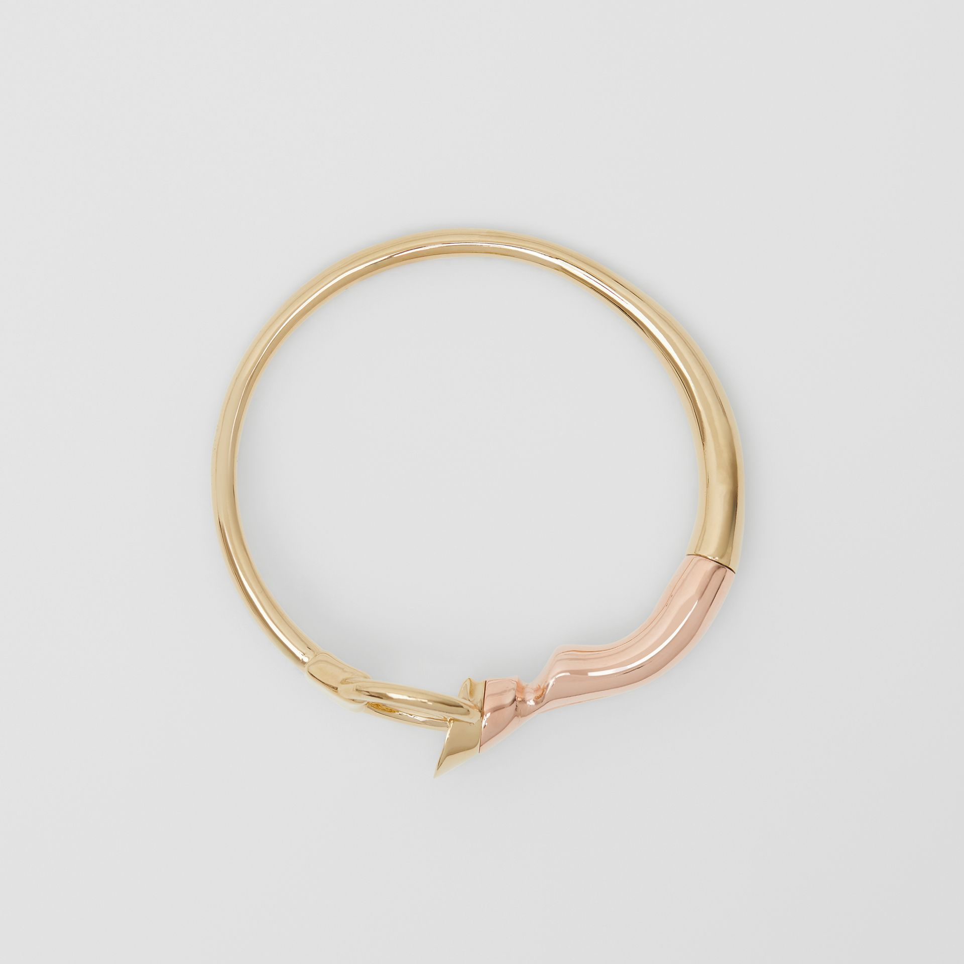Beechwood and Gold-plated Hoof and Hoop Bracelet in Light - Women | Burberry - gallery image 0
