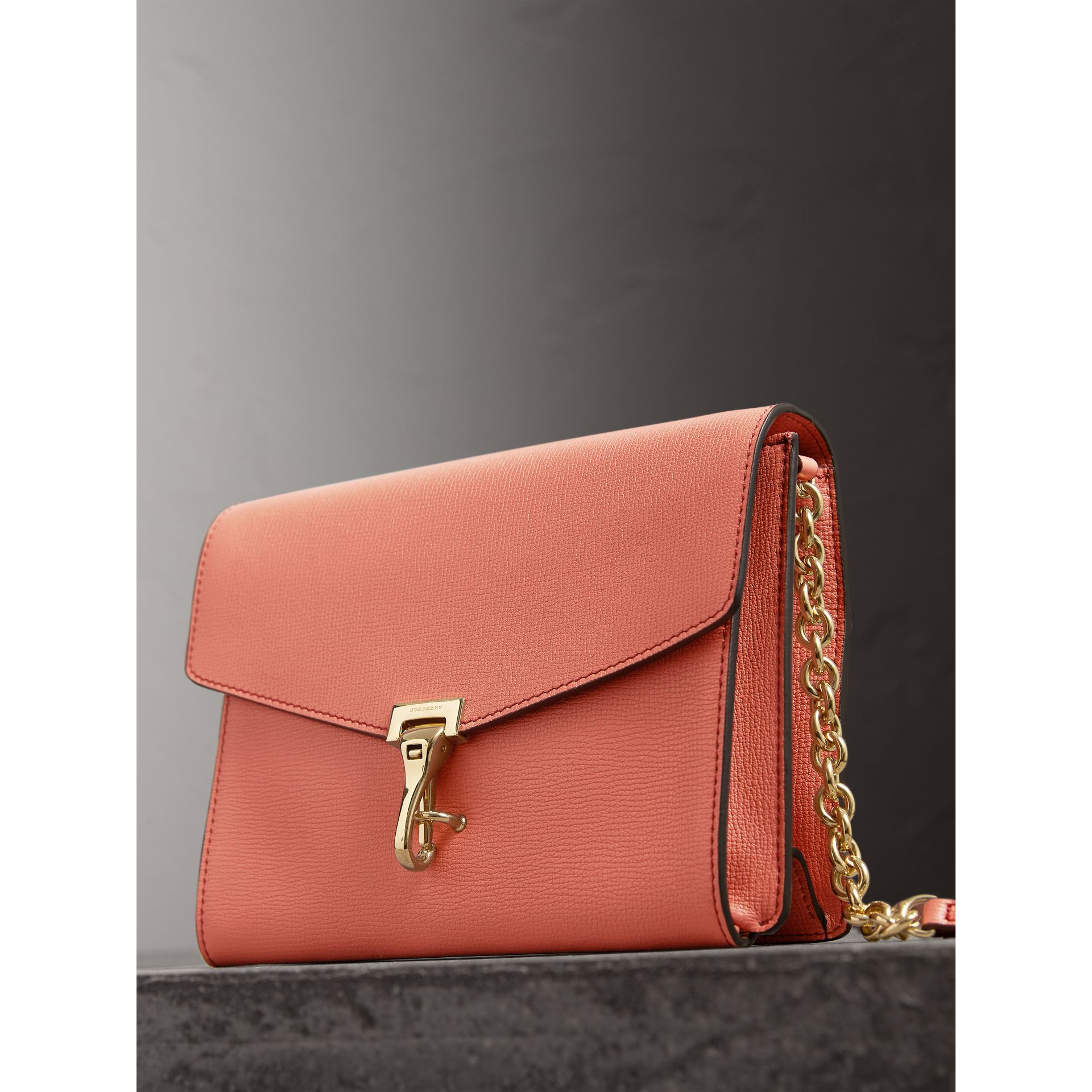 Small Leather Crossbody Bag in Cinnamon Red - Women | Burberry - gallery image 6