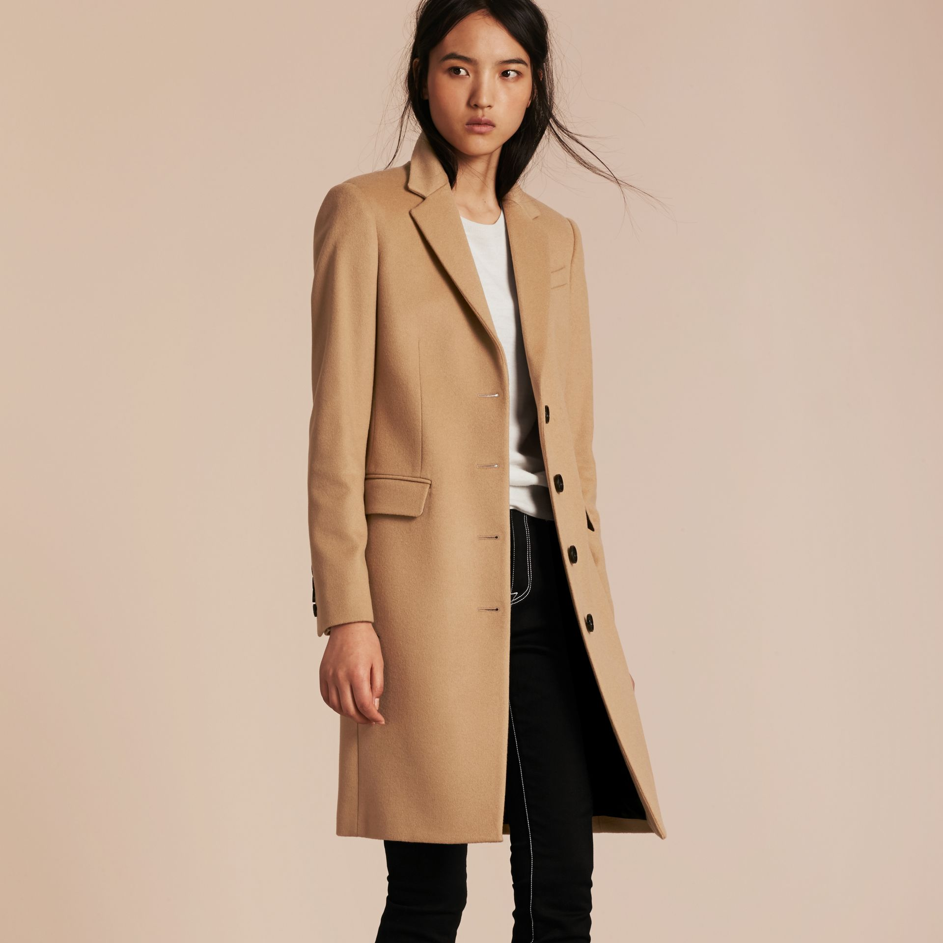 Camel Tailored Wool Cashmere Coat Camel - gallery image 6