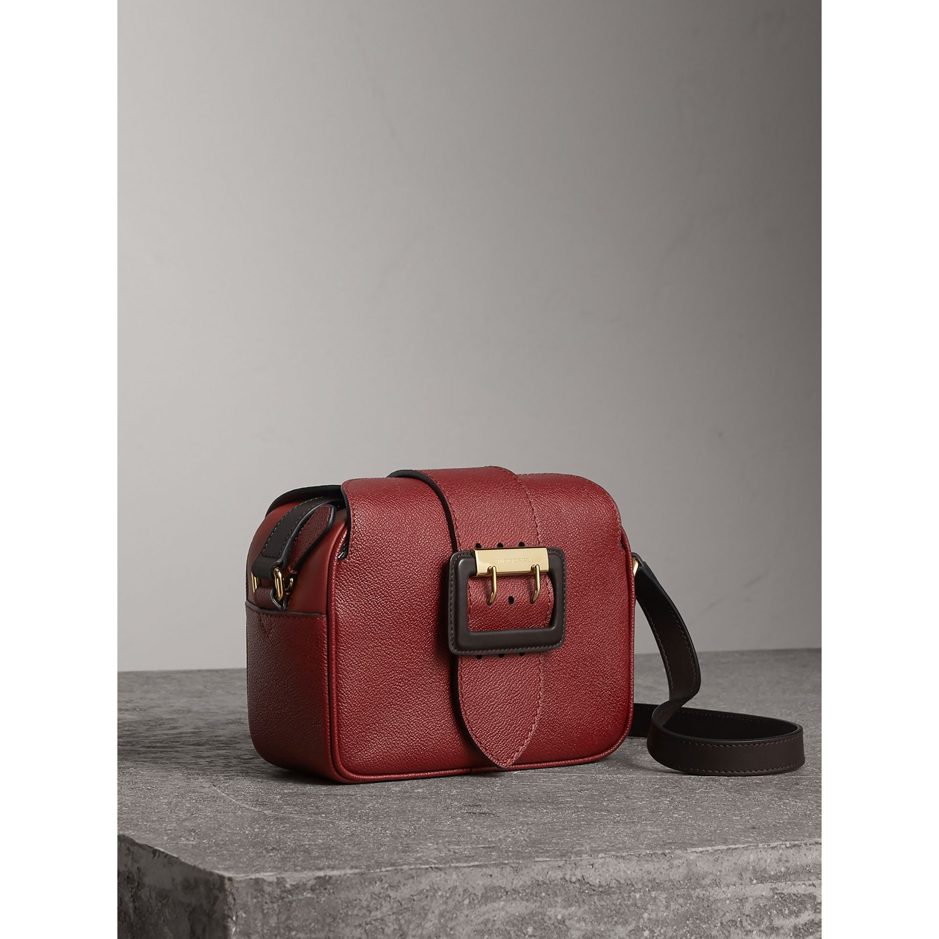 The Small Buckle Crossbody Bag in Two-tone Leather in Antique Red - Women | Burberry - gallery image 6