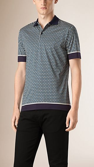 Graphic Print Cotton Polo Shirt
