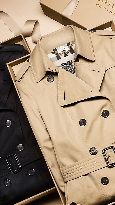 Honey The Sandringham - Short Heritage Trench Coat - Image 7