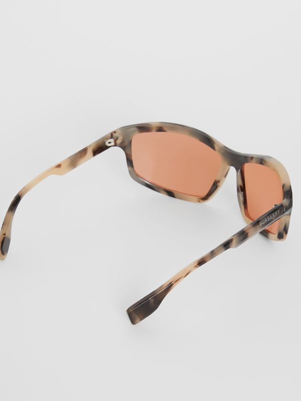 Wrap Frame Sunglasses in Orange - Men | Burberry Singapore - cell image 3