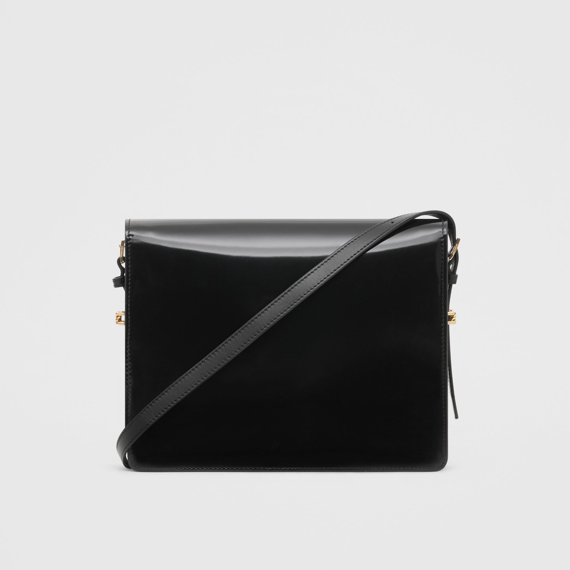 Large Patent Leather Grace Bag in Black - Women | Burberry - gallery image 7