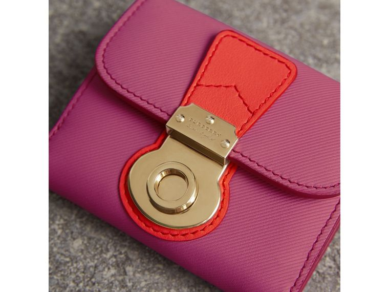 Trench Leather Wallet in Rose Pink - Women | Burberry Australia - cell image 1