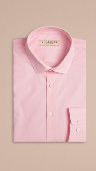 Modern Fit Striped Cotton Poplin Shirt