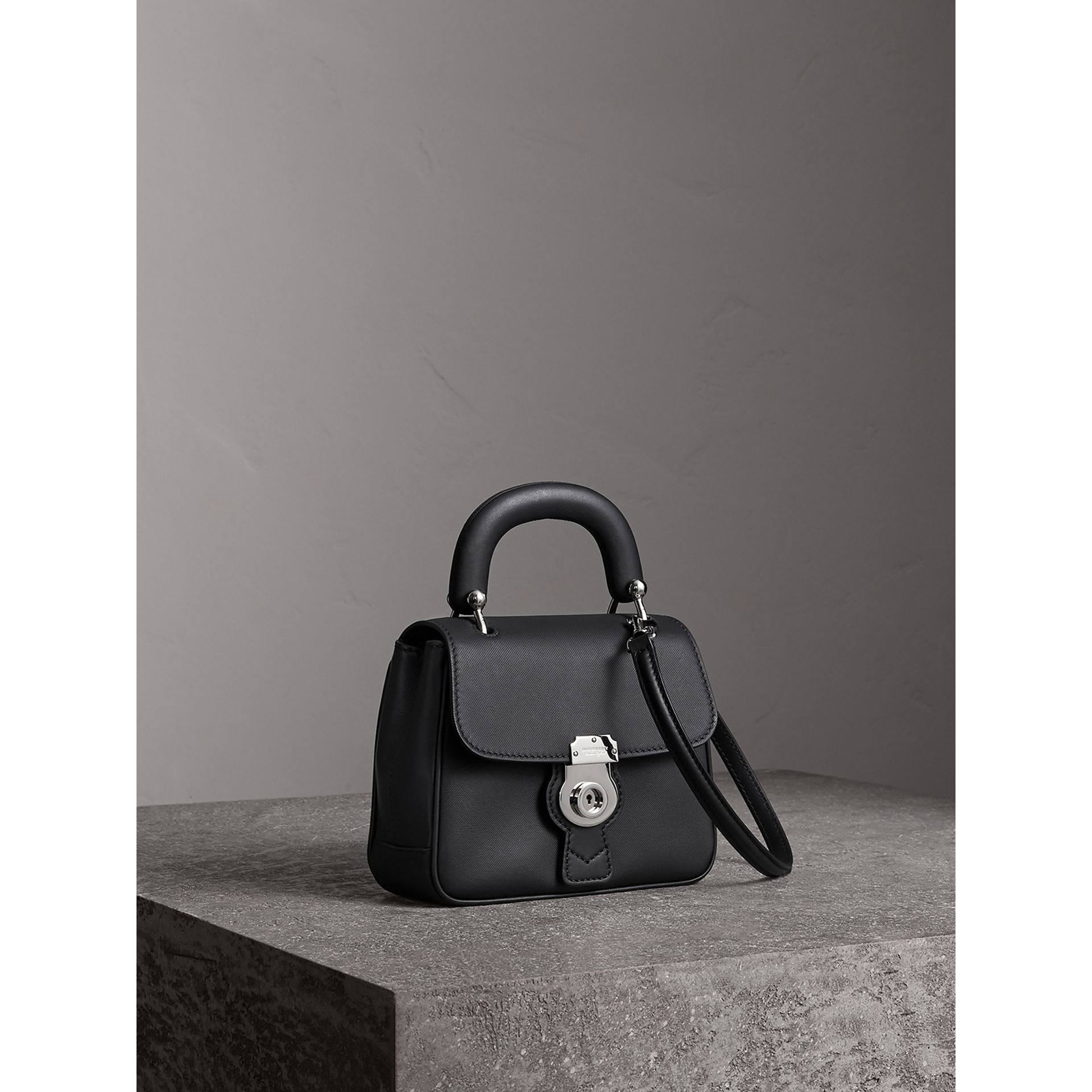 The Small DK88 Top Handle Bag in Black - Women | Burberry - gallery image 7