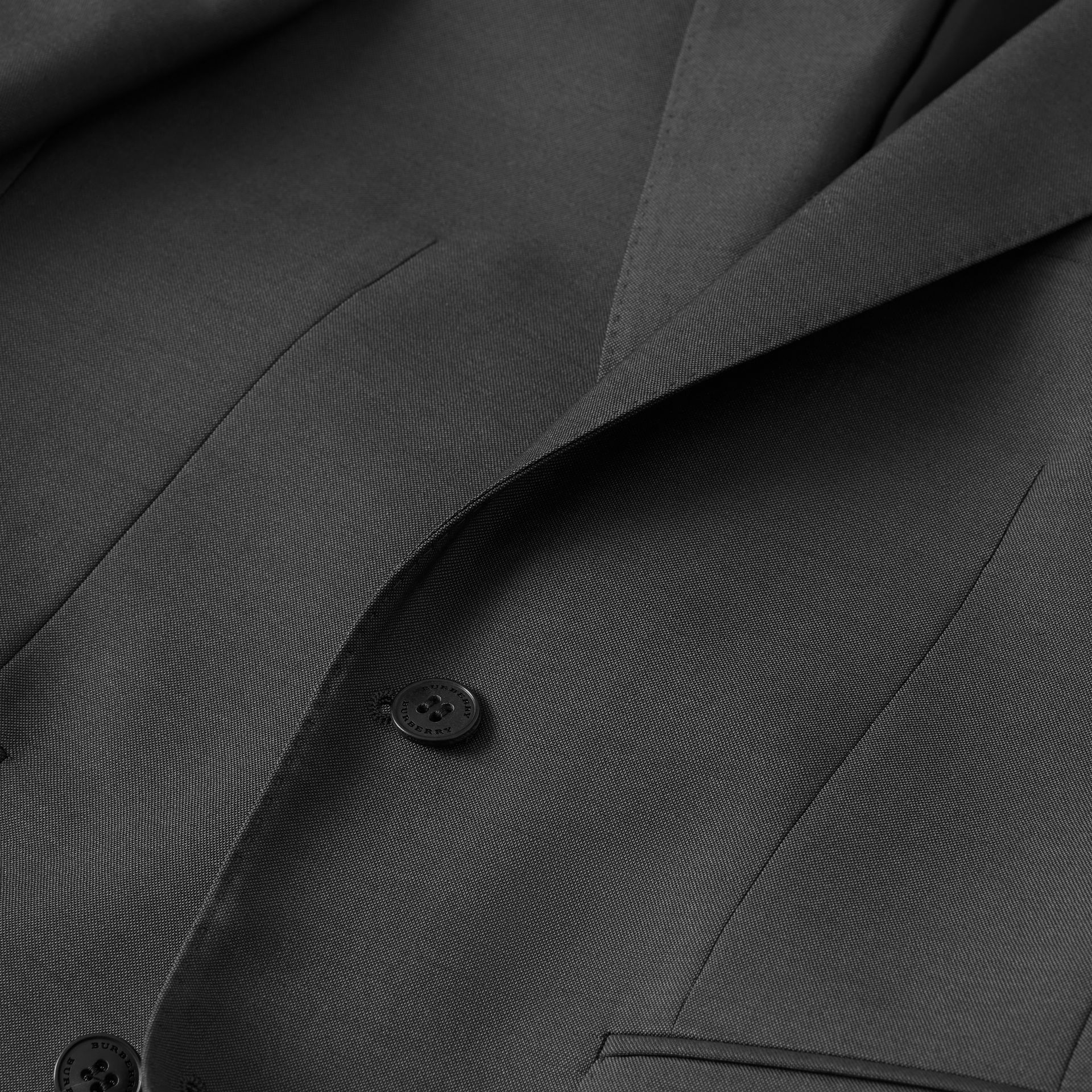 Classic Fit Wool Mohair Suit in Dark Grey - Men | Burberry Canada - gallery image 9