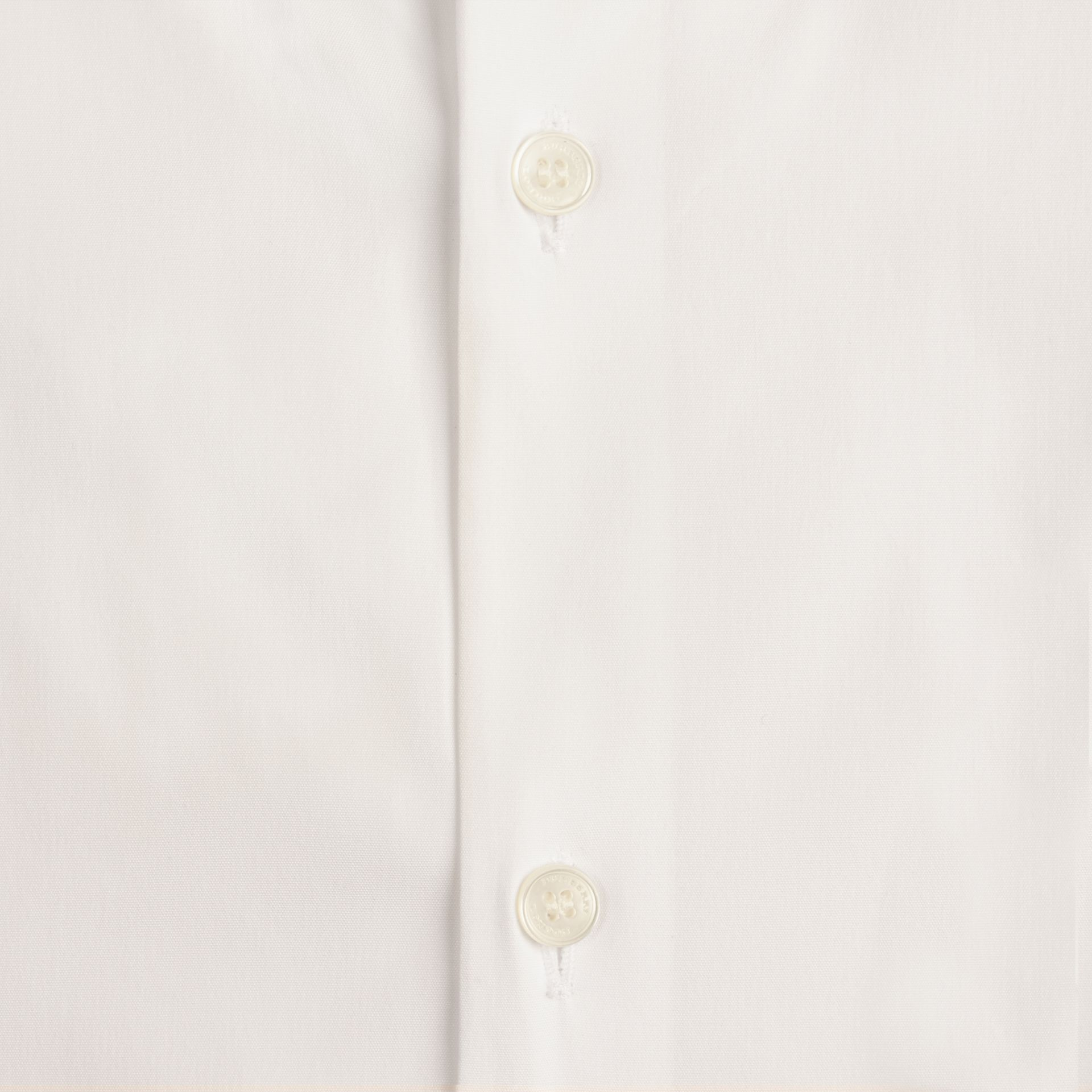White Slim Fit Button-down Collar Stretch-cotton Shirt White - gallery image 2