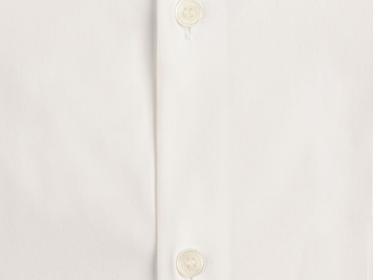 Slim Fit Button-down Collar Stretch-cotton Shirt in White - Men | Burberry - cell image 1