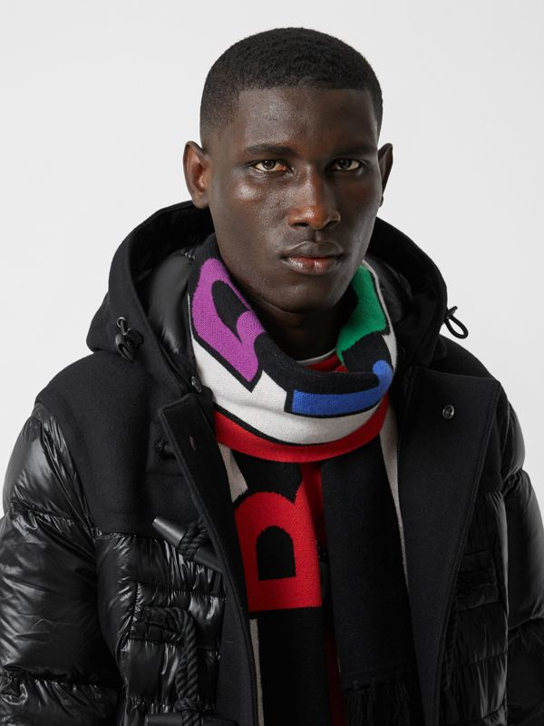 Logo Cashmere Jacquard Scarf in Multicolour | Burberry - cell image 3