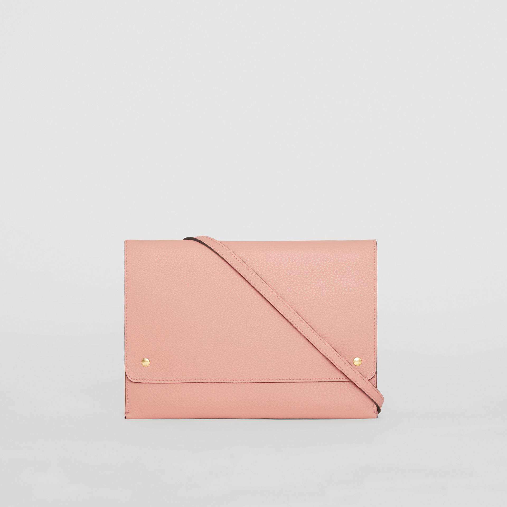 Leather Envelope Crossbody Bag in Ash Rose - Women | Burberry - gallery image 7
