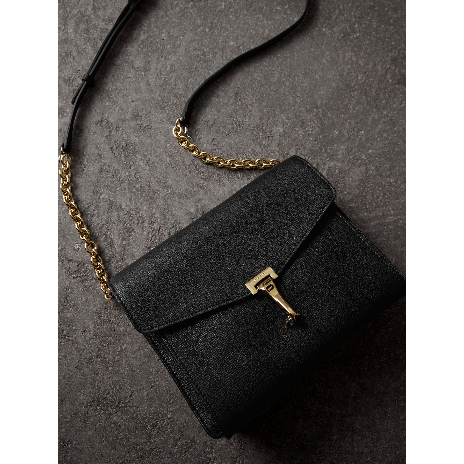 Small Leather Crossbody Bag in Black - Women | Burberry - gallery image 5