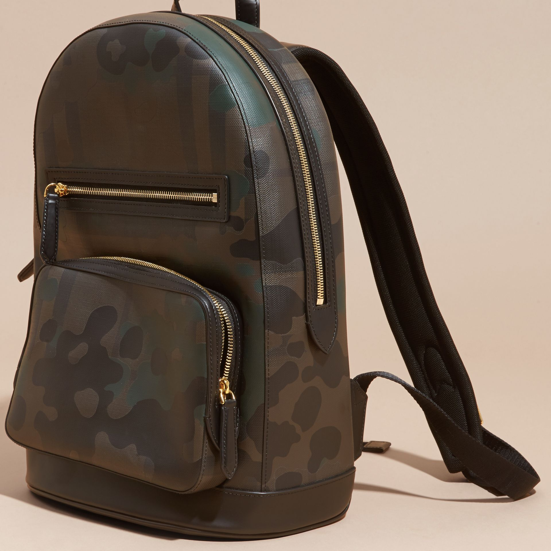 Chocolate Camouflage Print London Check Backpack - gallery image 7
