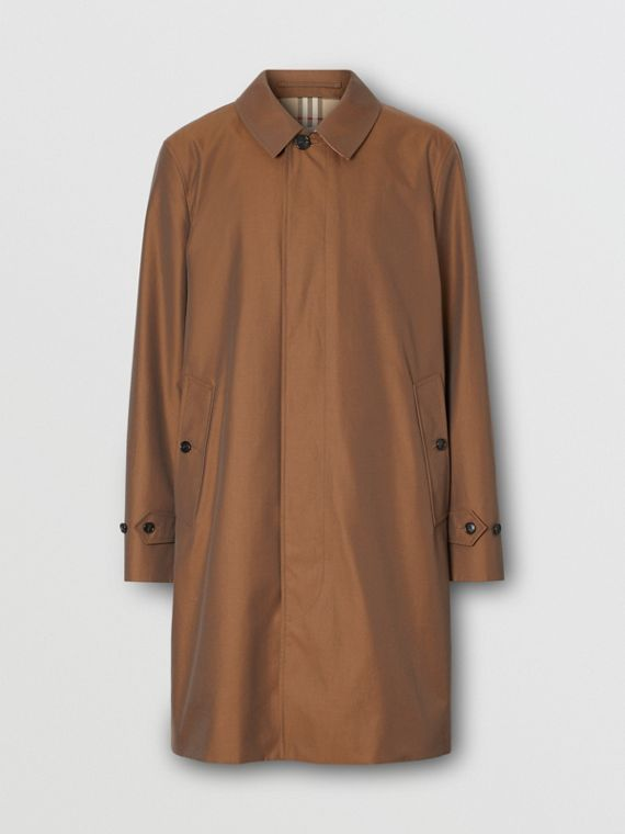 The Pimlico Heritage Car Coat in Amber Brown